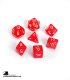 Chessex: Opaque Red/White Polyhedral dice set (7)