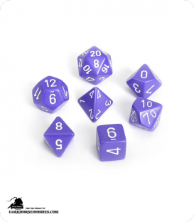 Chessex: Opaque Purple/White Polyhedral dice set