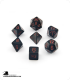 Chessex: Opaque Black/Red Polyhedral dice set (7)