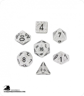 Chessex: Speckled Arctic Camo Polyhedral dice set
