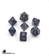 Chessex: Speckled Golden Cobalt Polyhedral dice set (7)