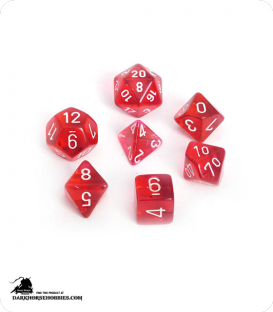 Chessex: Translucent Red/White Polyhedral dice set