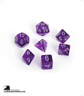 Chessex: Translucent Purple/White Polyhedral dice set