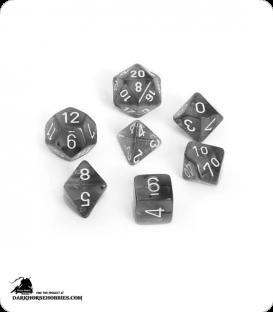 Chessex: Translucent Smoke/White Polyhedral dice set