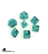 Chessex: Translucent Teal/White Polyhedral dice set (7)
