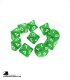 Chessex: Opaque Green/White d10 dice set (10)