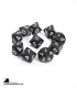Chessex: Opaque Black/White d10 dice set (10)