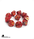 Chessex: Scarab Scarlet/Gold d10 dice set (10)