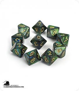 Chessex: Scarab Jade/Gold d10 dice set