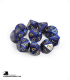 Chessex: Scarab Royal Blue/Gold d10 dice set (10)