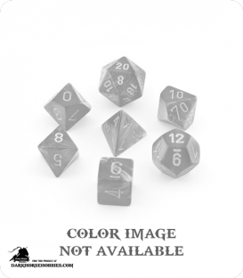 Chessex: Festive Green/Silver Polyhedral dice set