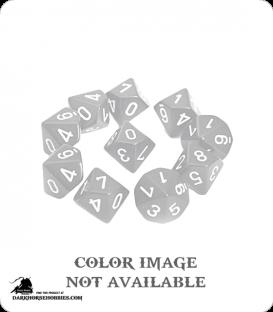 Chessex: Translucent Yellow d10 dice set
