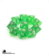 Chessex: Translucent Green d10 dice set (10)