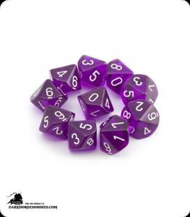 Chessex: Translucent Purple d10 dice set