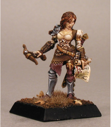 Warlord: Blade Sisters - Kyla, Bounty Huntress (painted by Anne Foerster)