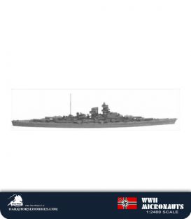German WWII Micronauts: BB Bismarck Battleship