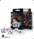 Dragons White-Black Polyhedral Dice Set