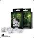 Elven White-Black Polyhedral Dice Set