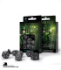 Elven Black-White Polyhedral Dice Set