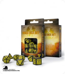 Nuke Revised Black-Yellow 3D Polyhedral Dice Set