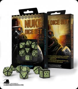 Nuke Revised Black-Glow in the Dark 3D Polyhedral Dice Set