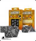 Steampunk Metal-Black Polyhedral Dice Set