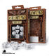 Steampunk White-Black Polyhedral Dice Set