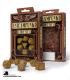 Steampunk Brown-Yellow Polyhedral Dice Set