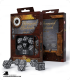Steampunk Clockwork Black-White Polyhedral Dice Set