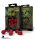 Celtic 3D Revised Red-Black Polyhedral Dice Set