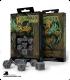 Celtic 3D Revised Gray-Black Polyhedral Dice Set