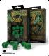 Celtic 3D Revised Green-Black Polyhedral Dice Set