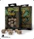 Celtic 3D Revised Beige-Black Polyhedral Dice Set