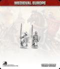 10mm European Mid Medieval: Spearmen in Gambeson and Helmet