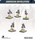 10mm American Revolution: Continentals in Coats and Caps - Marching (painted by Andy Mac)