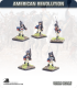 10mm American Revolution: Continentals in Coats and Caps - Marching