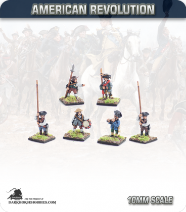 10mm American Revolution: Militia Command - Standing (painted by Andy Mac)
