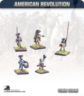 10mm American Revolution: Continental Command in Coats - Marching (painted by Andy Mac)