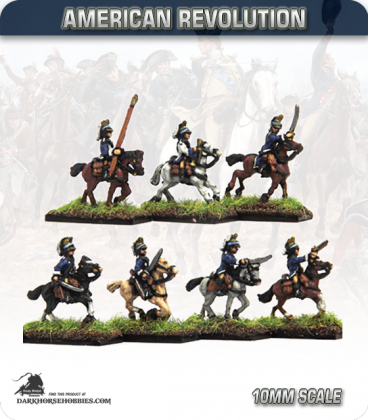 10mm American Revolution: Dragoons in French Helmets (painted by Andy Mac)