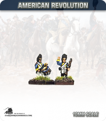 10mm American Revolution: French Grenadier Command - Marching (painted by Andy Mac)