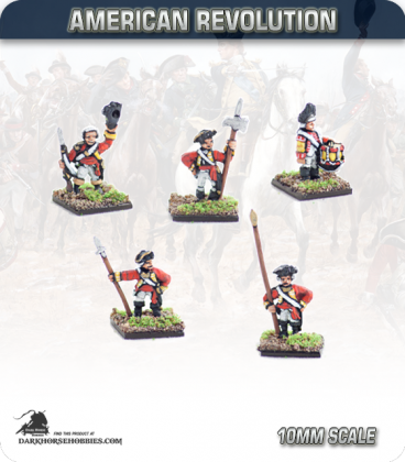 10mm American Revolution: British Line Infantry Command 1768 - Standing