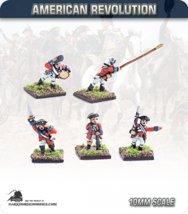 10mm American Revolution: British Line Infantry Command 1768 - Charging