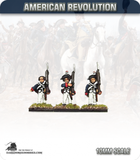 10mm American Revolution: Brunswick Musketeers - Marching (painted by Andy Mac)