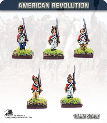 10mm American Revolution: British Line Infantry in Saratoga Dress - Standing