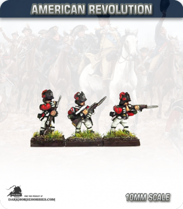 10mm American Revolution: British Light Infantry in Crested Helm - Skirmish (figures painted by Andy Mac)