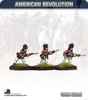 10mm American Revolution: British Line Infantry in Saratoga Dress - Charging (figures painted by Andy Mac)