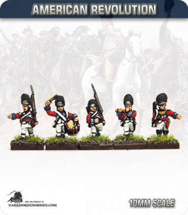 10mm American Revolution: British Grenadier Command - Marching (figures painted by Andy Mac)