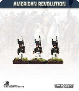 10mm American Revolution: British Queens Rangers Grenadiers (figures painted by Andy Mac)