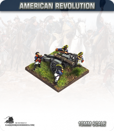 10mm American Revolution: 6pdr Battalion Guns with Ammo Boxes and British Crew (figures painted by Andy Mac)