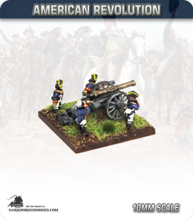 10mm American Revolution: 6pdr Guns with British Crew (figures painted by Andy Mac)